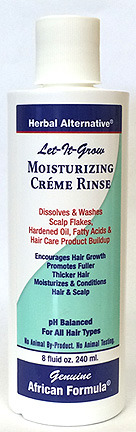 CLEARANCE SALE: Let It Grow Moisturizing Creme Rinse, 8 fl oz / 232ml (African Formula)