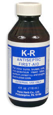 K-R Antiseptic Liquid,  4 fl oz (Nature's Wonderland)