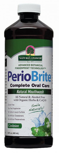 Perio Brite Alcohol Free Mouthwash - Cool Mint, 16 fl oz (Nature's Answer)