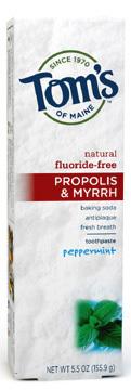 Antiplaque Toothpaste - Peppermint Baking Soda, 5.5 oz/155.9g (Tom's of Maine)