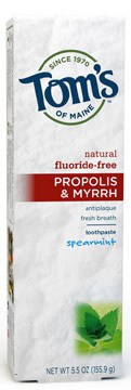 Antiplaque Toothpaste with Propolis & Myrrh - Spearmint, 5.5 oz /155.9g (Tom's of Maine)