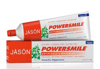 Power Smile Whitening Toothpaste, Powerful Peppermint, 6 oz/170g (Jason)