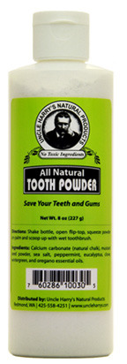 Tooth Powder, 8 oz / 227g  (Uncle Harry's)