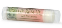 Lip Rescue - Shea Butter, .15oz (Desert Essence)