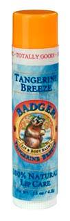 Badger Lip Balm - Tangerine Breeze, 0.15 oz / 4.2g (W.S. Badger Co.)