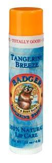 Badger Lip Balm - Tangerine Breeze, 0.15 oz / 4.2g (W.S. Badger Co.)