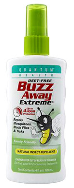 Buzz Away Extreme Natural Insect Repellent Spray, 4 fl oz (Quantum Health)