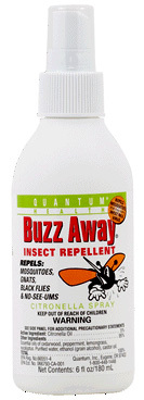 Buzz Away Insect Repellent Spray, 6 fl oz (Quantum Health)