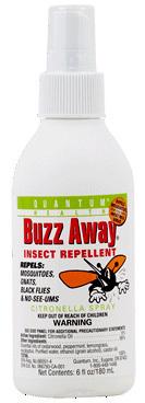 Buzz Away Insect Repellent Spray, 6 fl oz (Quantum Health)