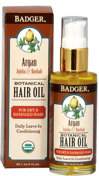 Argan Hair Oil, 2 fl oz / 59.1 ml (W.S. Badger Co.)