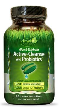 Active Cleanse & Probiotics, 60 liquid softgels (Irwin Naturals)