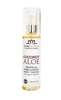 Coconut Aloe Body & Tan Oil, 3.5 fl oz (Bodyceuticals)