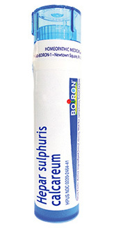 Hepar Sulphuris Calcareum 30C, approx. 80 pellets (Boiron)