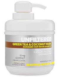 Green Tea & Coconut Husk Damaged Hair Rehab Shampoo, 13.9 oz (Beautiful Nutrition)