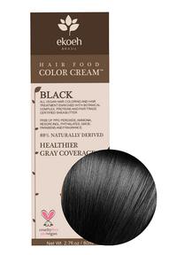 Black Hair Color Cream, 2.7 fl oz (Ekoeh)