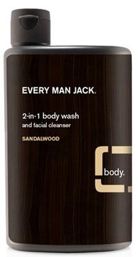 2-in-1 Body Wash, Sandalwood 13.5 fl oz (Every Man Jack)