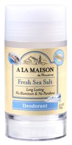 Aluminum-Free Deodorant - Sea Salt, 2.4 oz (A La Maison)