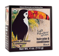 Natural Hair Color & Conditioner - Black, 4 oz (Light Mountain)