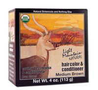 Natural Hair Color & Conditioner - Medium Brown, 4 oz (Light Mountain)