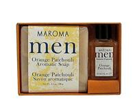 Men's Soap & Perfume Gift Set - Orange Patchouli  3.5 oz / 10ml (Maroma)