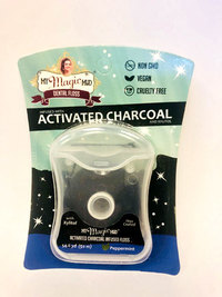 Activated Charcoal Infused Floss - Peppermint, 54.6 yards (My Magic Mud)