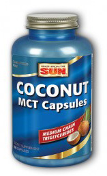 Coconut Oil MCT Capsules, 180 capsules (Health From The Sun)