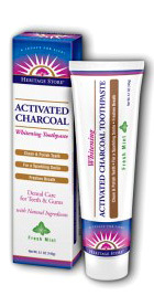 Activated Charcoal Whitening Toothpaste - Fresh Mint, 5.1 oz (Heritage Store)