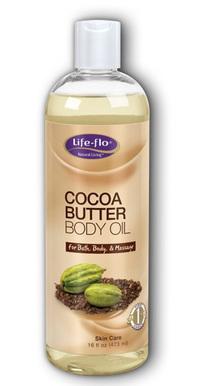 Cocoa Butter Body Oil, 16 fl oz / 473ml (Life Flo)