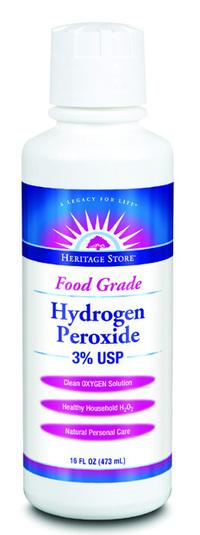 Hydrogen Peroxide Food Grade 3%, 16 fl oz (Heritage Store)
