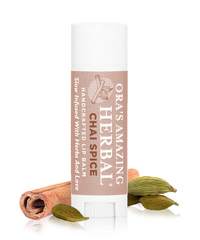 Herbal Infused Lip Balm, Chai Spice .15oz (Ora's Amazing Herbal)