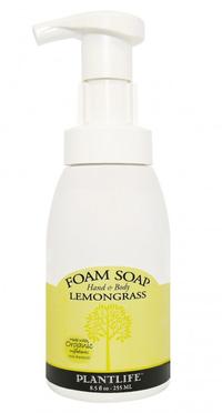 Lemongrass Foam Soap, 8.5 fl oz / 255 mL (Plantlife)