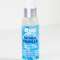 Oatmeal Vanilla Natural Deodorant Spray, 2 oz (Rad Soap Co.)