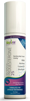 Progesterone Cream 25 mg, 3 oz (Sigform)
