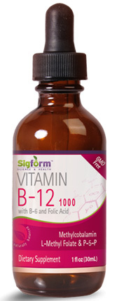 Vitamin B-12 Liquid - 1000 mcg 1 fl oz /30ml (Sigform)