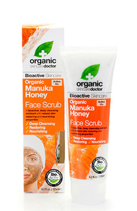 Organic Manuka Honey Face Scrub,  4.2 fl oz / 125ml (Organic Doctor)