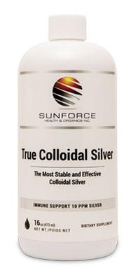 True Colloidal Silver - 10 ppm, 16 fl oz (Sunforce)