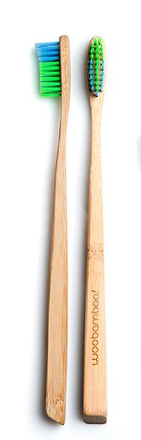 Bamboo Toothbrush, Slim Adult Super Soft (Woo Bamboo)
