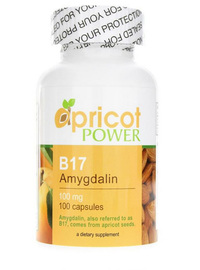 B-17 / Amygdalin 100 mg, 100 capsules (Apricot Power)