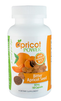 Bitter Apricot Seed - 60 mg, 180 Capsules (Apricot Power)