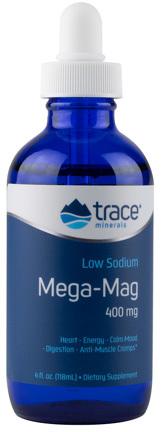 Magnesium Liquid / Mega Mag - 400 mg, 4 fl oz / 188ml (Trace Minerals Research)