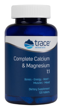 Complete Calcium & Magnesium, 120 tablets (Trace Minerals Research)