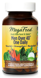Men Over 40 One Daily Multivitamins, 30 tablets  (Mega Food)