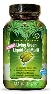 Women's Living Green Liquid-Gel Multi, 90 liquid soft gels (Irwin Naturals)