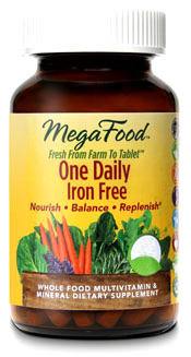 One Daily Multivitamins - Iron Free, 30 tablets (Mega Food)