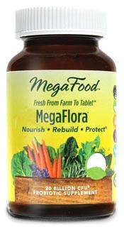 MegaFlora Probiotics - 20 Billion CFU, 30 capsules (Mega Food)