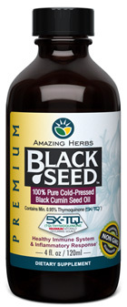 Black Seed Oil, 4 fl oz/120 ml (Amazing Herbs)
