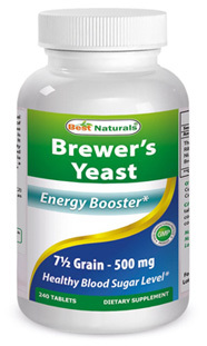 Brewer's Yeast Tablets 7 1/2 Grain - 500 mg 240 tablets (Best Naturals)