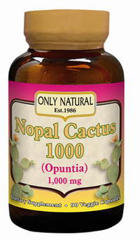 Nopal Cactus - 1,000 mg, 90 veggie capsules (Only Natural Inc.)
