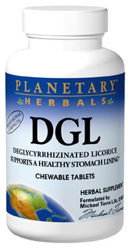 DGL Licorice, 100 chewable tablets (Planetary Herbals)