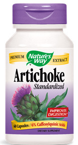 Artichoke Standardized Extract, 60 capsules (Nature's Way)